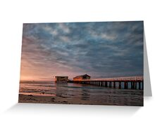 Queenscliff Pier Greeting Card