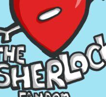 I ♥ The Sherlock Fandom Sticker