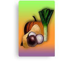 Vegetables 3 /  The Fruit Shop Canvas Print
