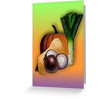 Vegetables 3 /  The Fruit Shop Greeting Card