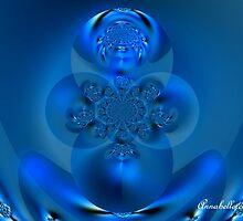 MOTHER EARTH BUDHA IN BLUE by Annabellerockz