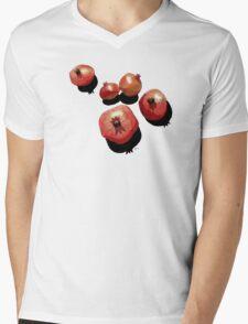 Pomegranate on the Edge Mens V-Neck T-Shirt