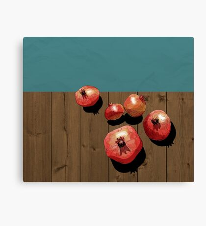 Pomegranate on the Edge Canvas Print