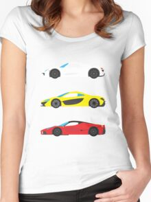 "Modern European Dream Cars ""The Trinity"" Women's Fitted Scoop T-Shirt"