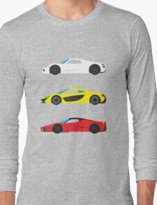 "Modern European Dream Cars ""The Trinity"" Long Sleeve T-Shirt"