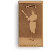 Benjamin K Edwards Collection Jerry Denny Indianapolis Hoosiers baseball card portrait 002 Canvas Print