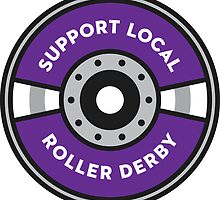 Support Local Roller Derby – Purple/Gray by chelbot