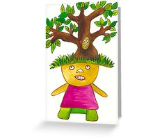 Tree Child  Greeting Card