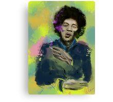 Jimi Colourised  Canvas Print