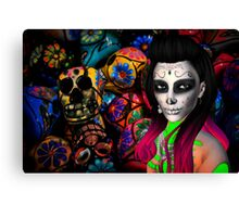 Day of the Dead Kardashian's Canvas Print