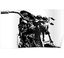 Bike,black and white.(manga style) Poster