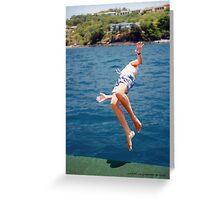 Island Hopping Boy© Vicki Ferrari Greeting Card