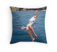 Island Hopping Boy© Vicki Ferrari Throw Pillow
