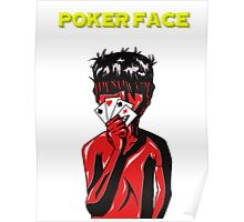 Poker Face (Yellow) Poster