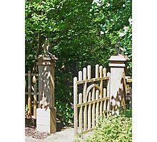Wooden Garden Gate Photographic Print