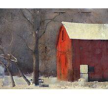 Grunge barn Photographic Print