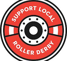 Support Local Roller Derby – Red by chelbot