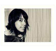 Awkward Me in black & white Art Print