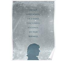 Sherlock minimalist poster Poster