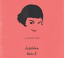Amélie minimalist movie poster by OurBrokenHouse