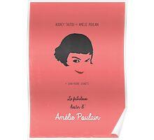 Amélie minimalist movie poster Poster