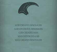 Jurassic Park minimalist movie poster by OurBrokenHouse