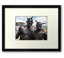 black on black  Framed Print