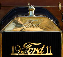 1911 Ford Model T Torpedo Grille Emblem by Jill Reger