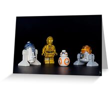 There's a new droid in town Greeting Card