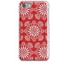 Red/White Circles iPhone Case/Skin