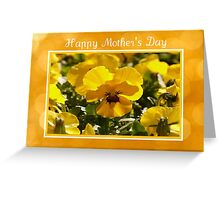 Yellow Pansies Flowers Greeting Card Greeting Card