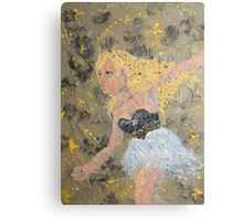 When it was starry and dark, she'd secretly dance.. Canvas Print