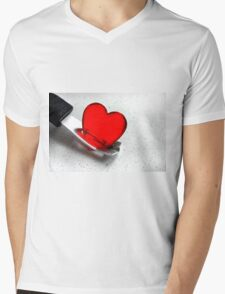 Carefully With .......... Mens V-Neck T-Shirt