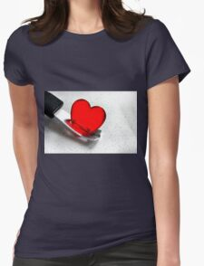 Carefully With .......... Womens Fitted T-Shirt