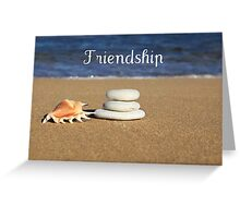 Sandy Sea shore Friendship Card Greeting Card