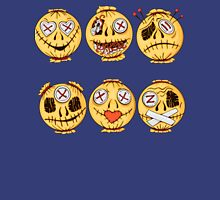 set of colorful halloween-style smiles of horror 4 Unisex T-Shirt