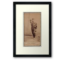 Benjamin K Edwards Collection Chief Zimmer Cleveland Spiders baseball card portrait Framed Print