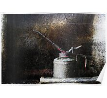 Oil Can & Pipe Poster