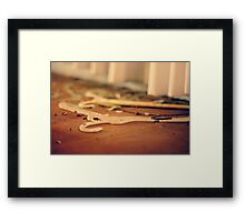 No Wire Hangers Framed Print