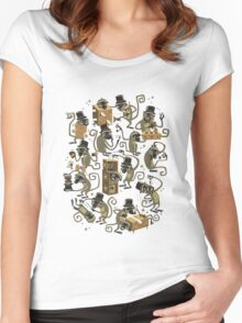 Monkey Magic (brown) Women's Fitted Scoop T-Shirt