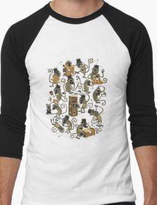 Monkey Magic (brown) Men's Baseball ¾ T-Shirt