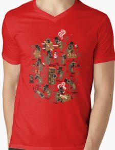 Monkey Magic (brown) Mens V-Neck T-Shirt