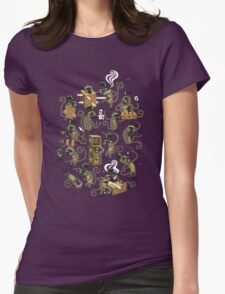 Monkey Magic (brown) Womens Fitted T-Shirt