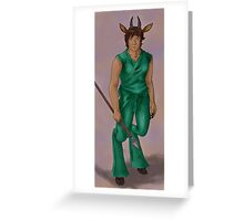 Antelope Guardian with Spear Greeting Card