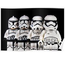 Evolution of a stormtrooper Poster