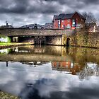 Lock 54 and Hall Street Bridge by inkedsandra