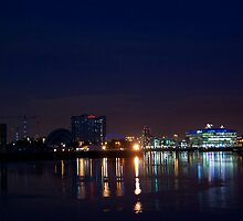 The Clyde at night by Glaspark