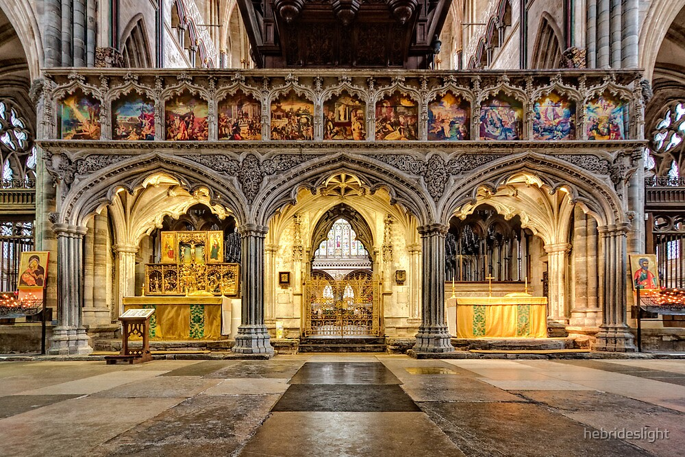 """""""The Rood Screen at Exeter Cathedral"""" by hebrideslight   Redbubble"""