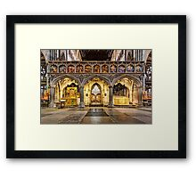 The Rood Screen at Exeter Cathedral Framed Print