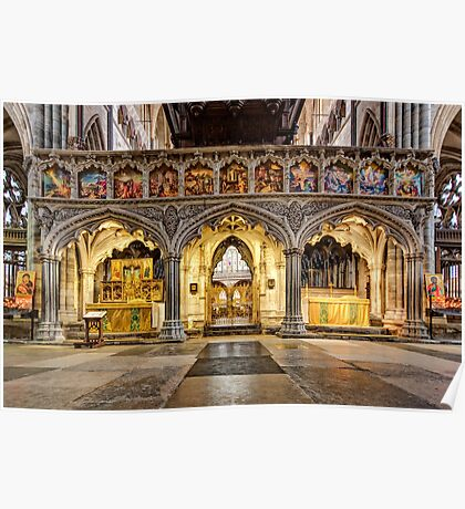 The Rood Screen at Exeter Cathedral Poster